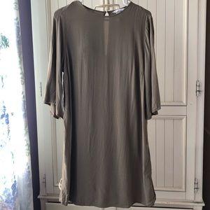 H&M Olive Green Shirt Dress Size 12
